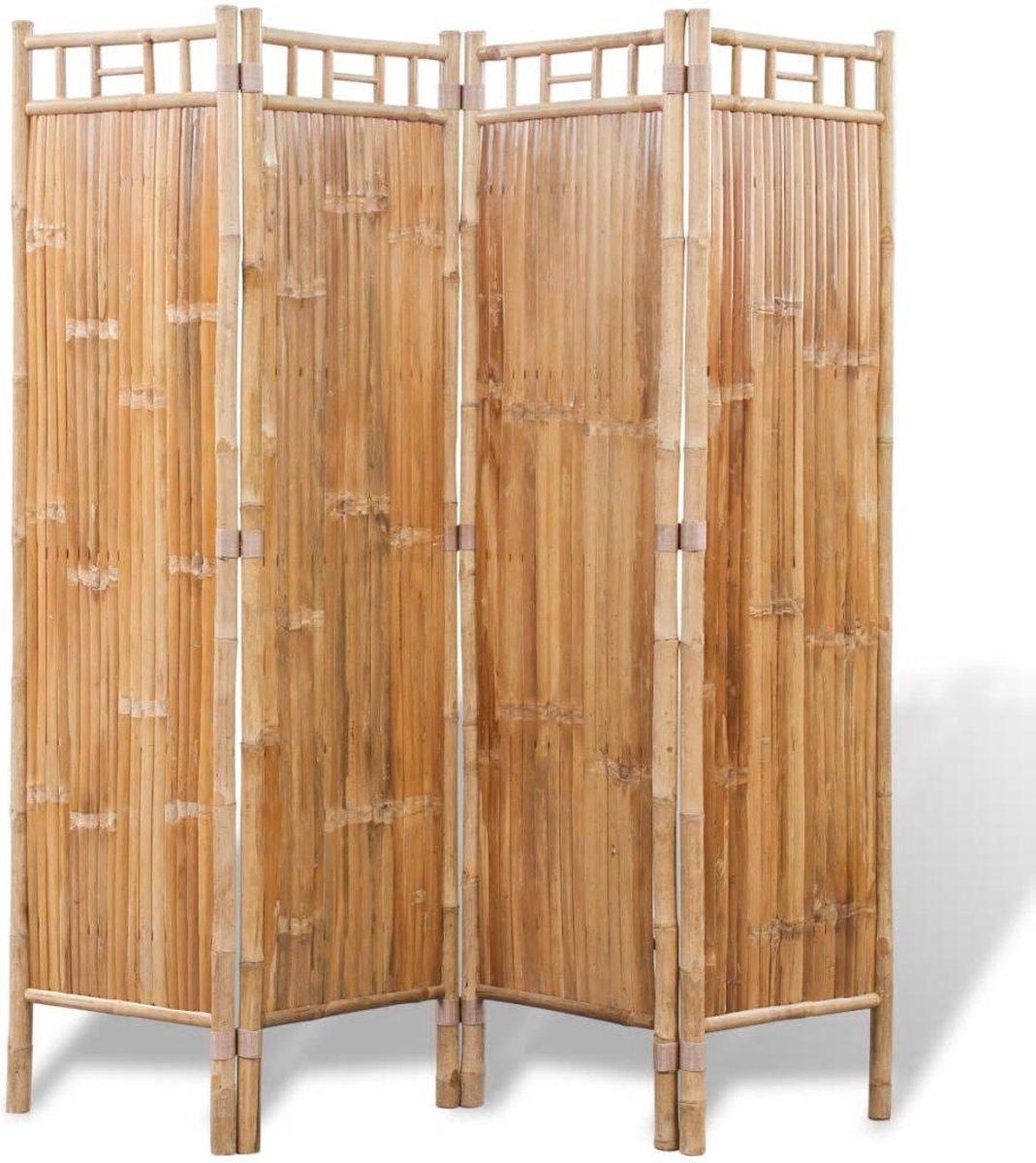 vidaXL Kamerscherm bamboe 4 panelen