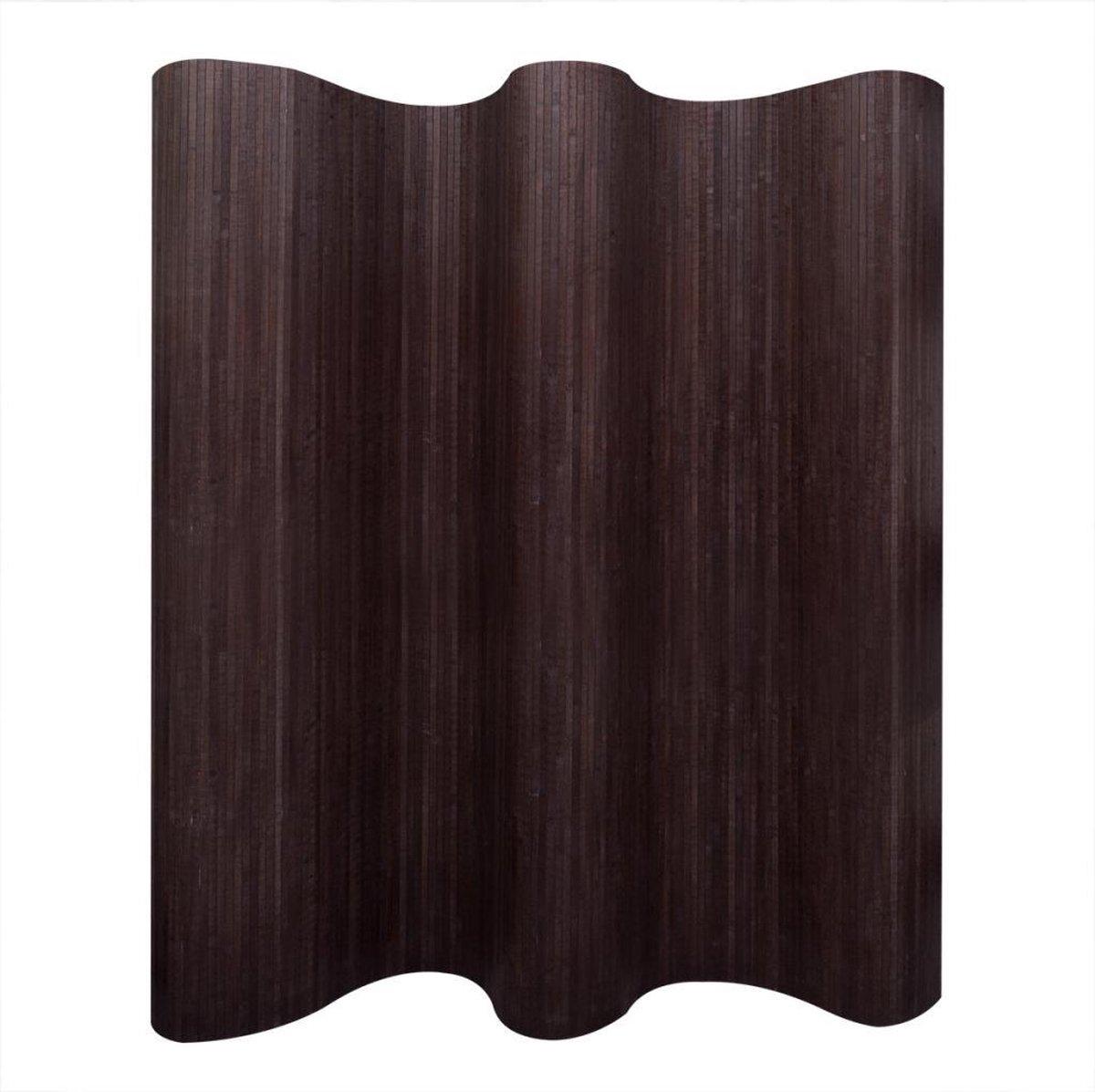 vidaXL Kamerverdeler donkerbruin bamboe 250x165 cm