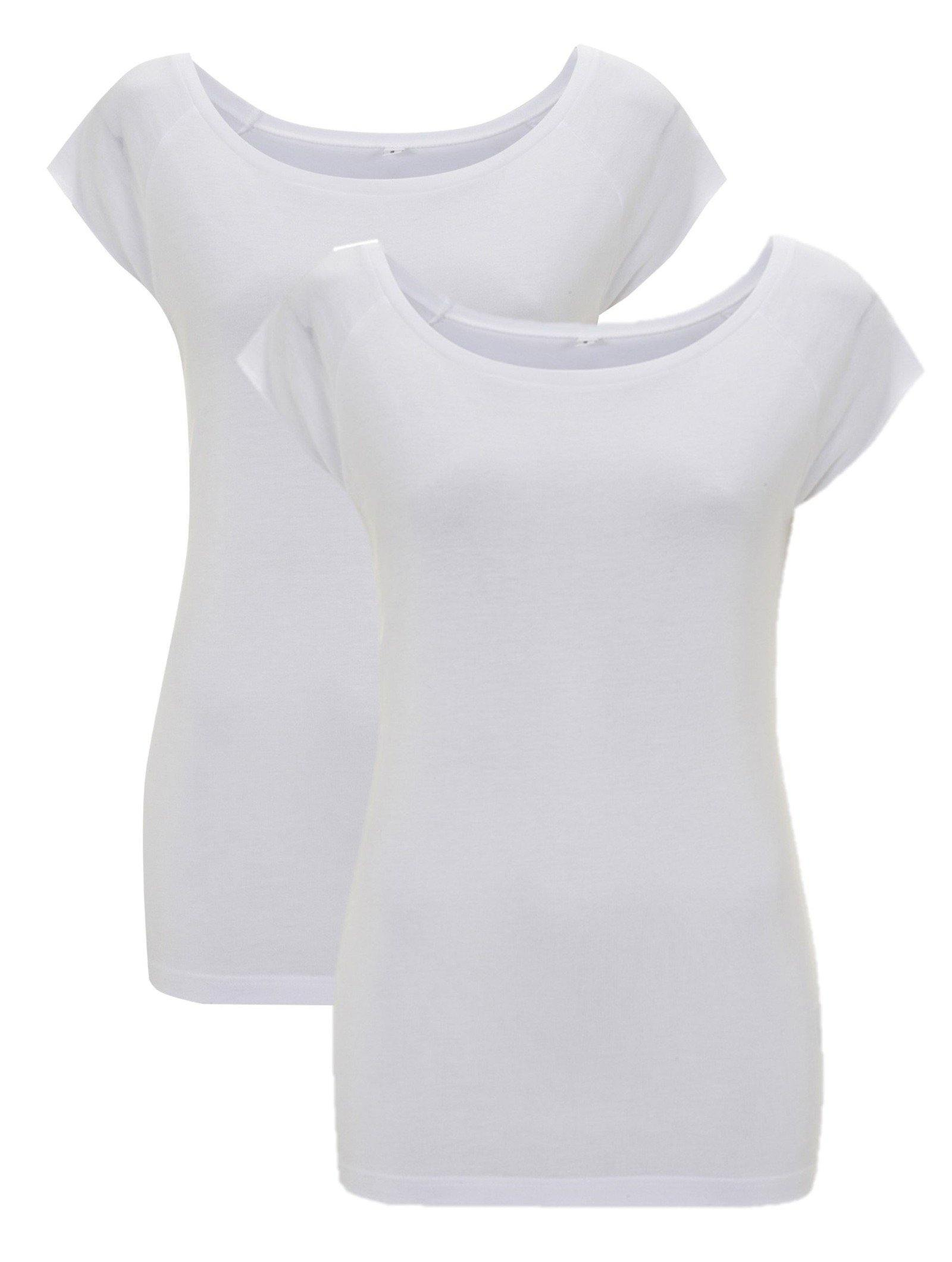 Bamboe t-shirt dames 2-pack   Cayboo