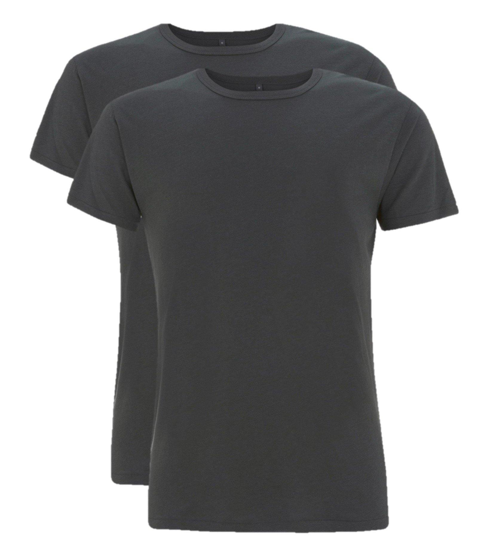 Bamboe t-shirt heren 2-pack Zwart