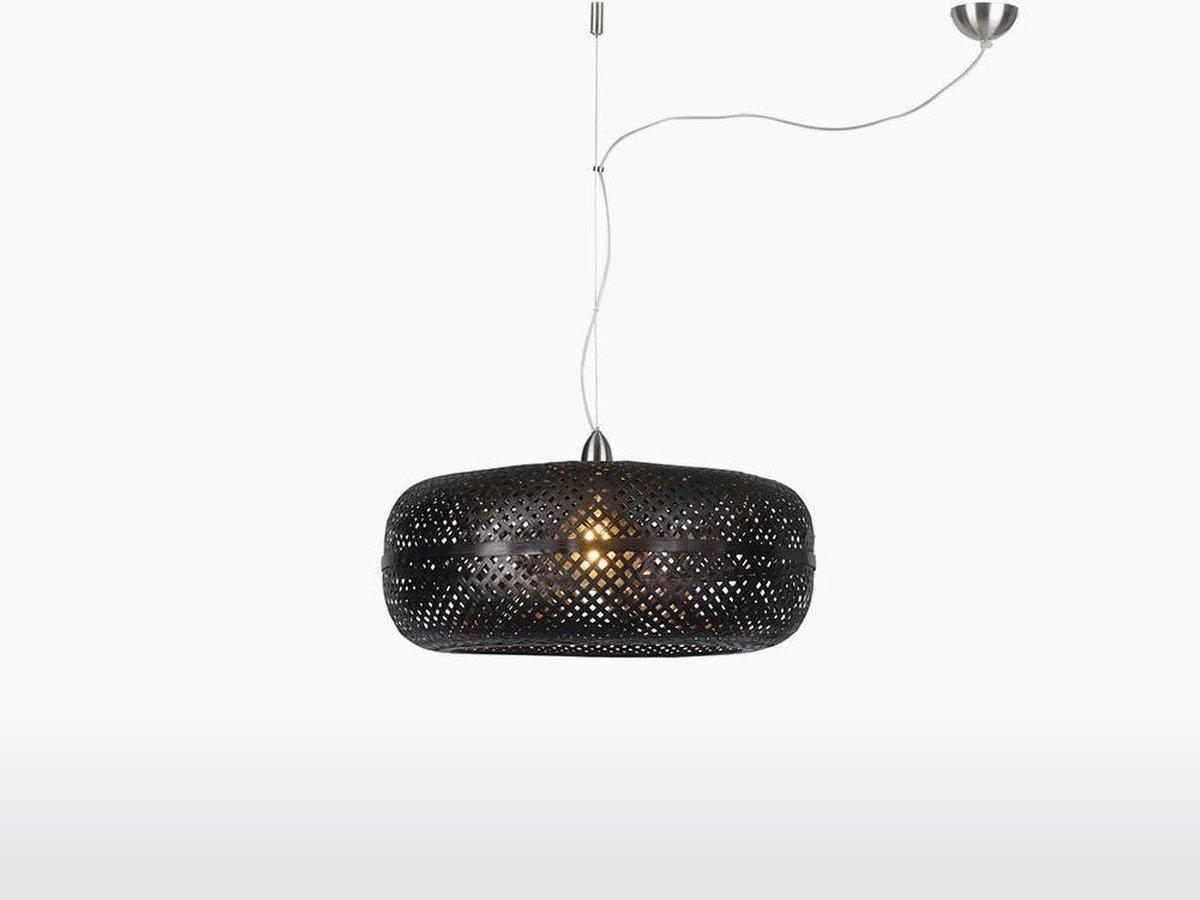 GOOD&MOJO - Hanglamp Palawan bamboe enkel kap, zwart