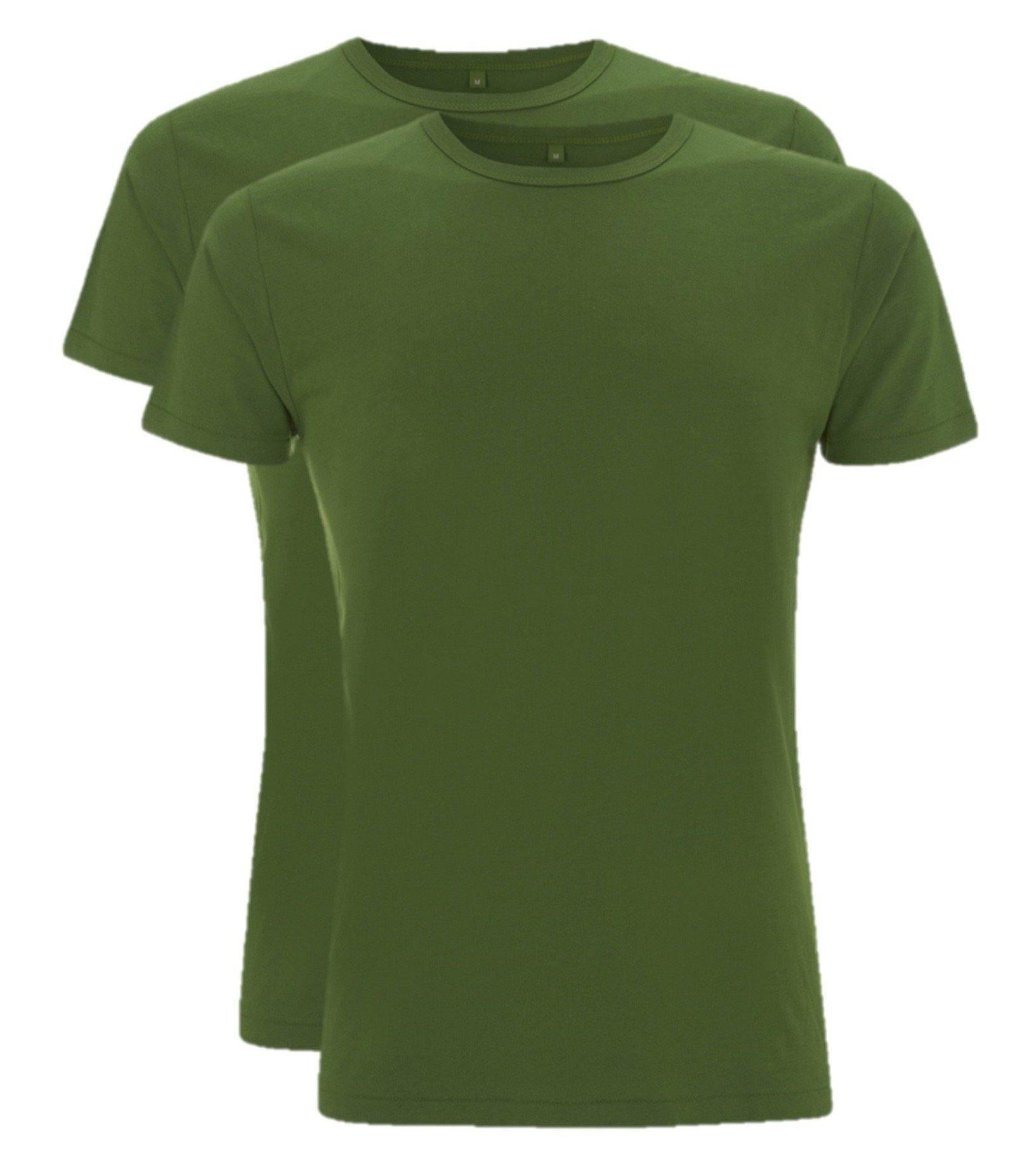 Bamboe t-shirt heren 2-pack groen | Cayboo