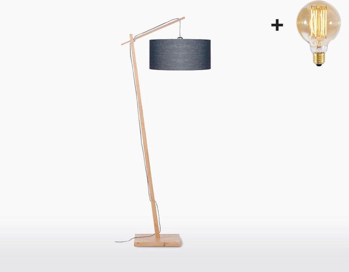 Good & Mojo Vloerlamp - ANDES - Bamboe/linnen