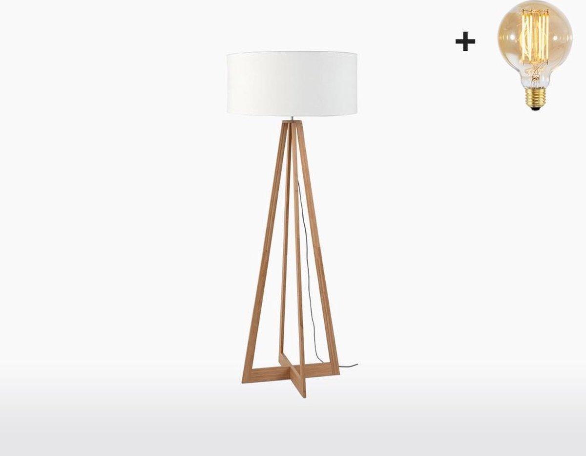 Good & Mojo Vloerlamp - EVEREST - Bamboe/Linnen