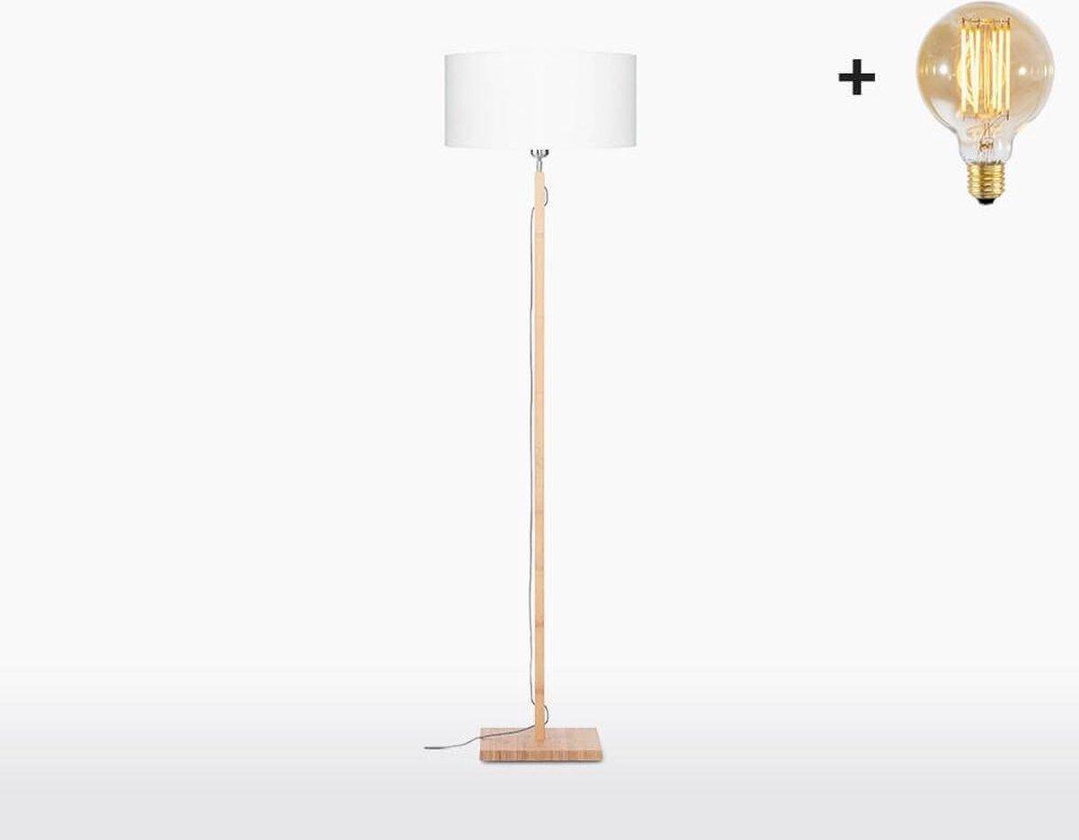 Good & Mojo Vloerlamp - FUJI - Bamboe/linnen