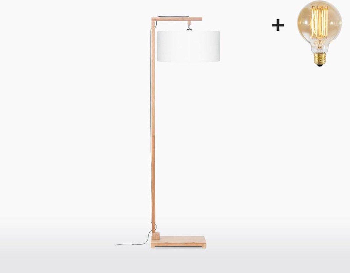Good & Mojo Vloerlamp - HIMALAYA - Bamboe/linnen