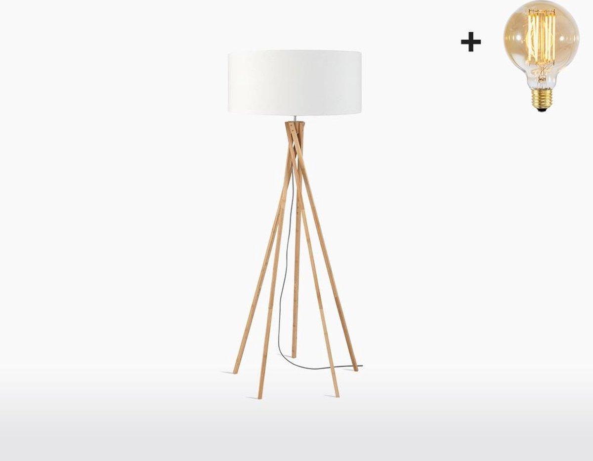 Good & Mojo Vloerlamp - KILIMANJARO - Bamboe/Linnen
