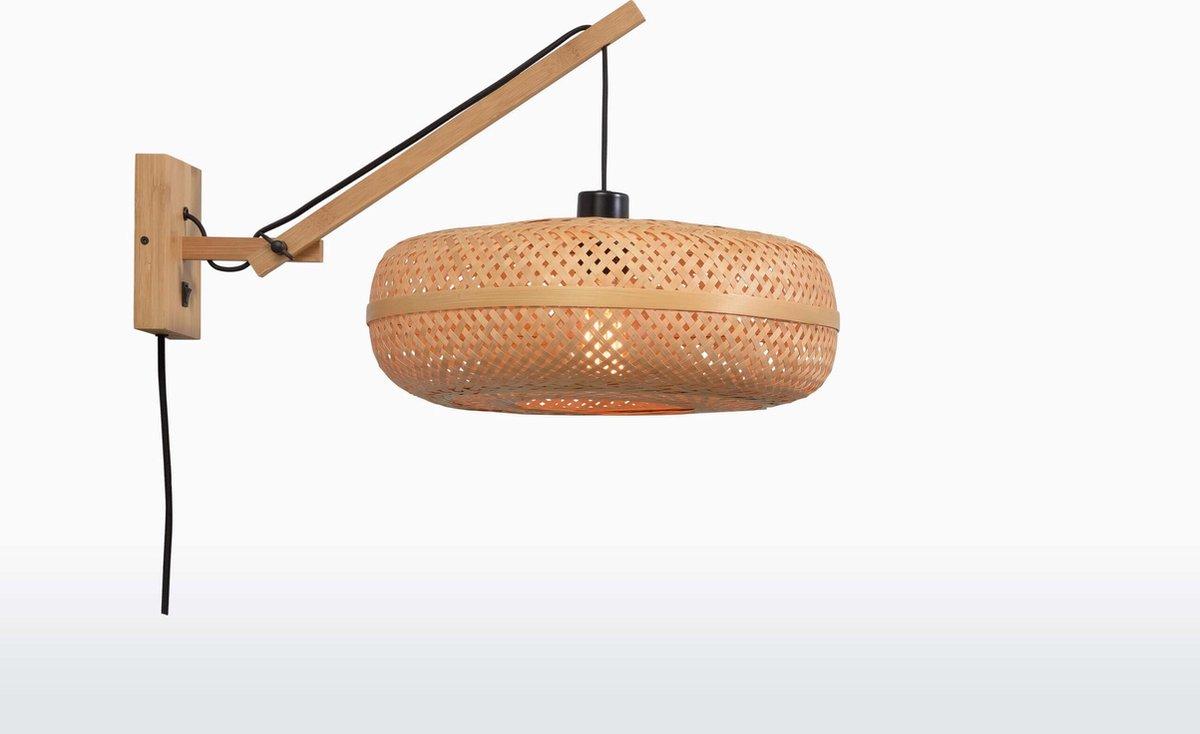 Good & Mojo Wandlamp - PALAWAN - Bamboe - Korte Arm - Naturel