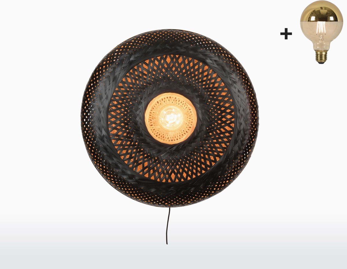 Good & Mojo Wandlamp - PALAWAN - Bamboe - Large