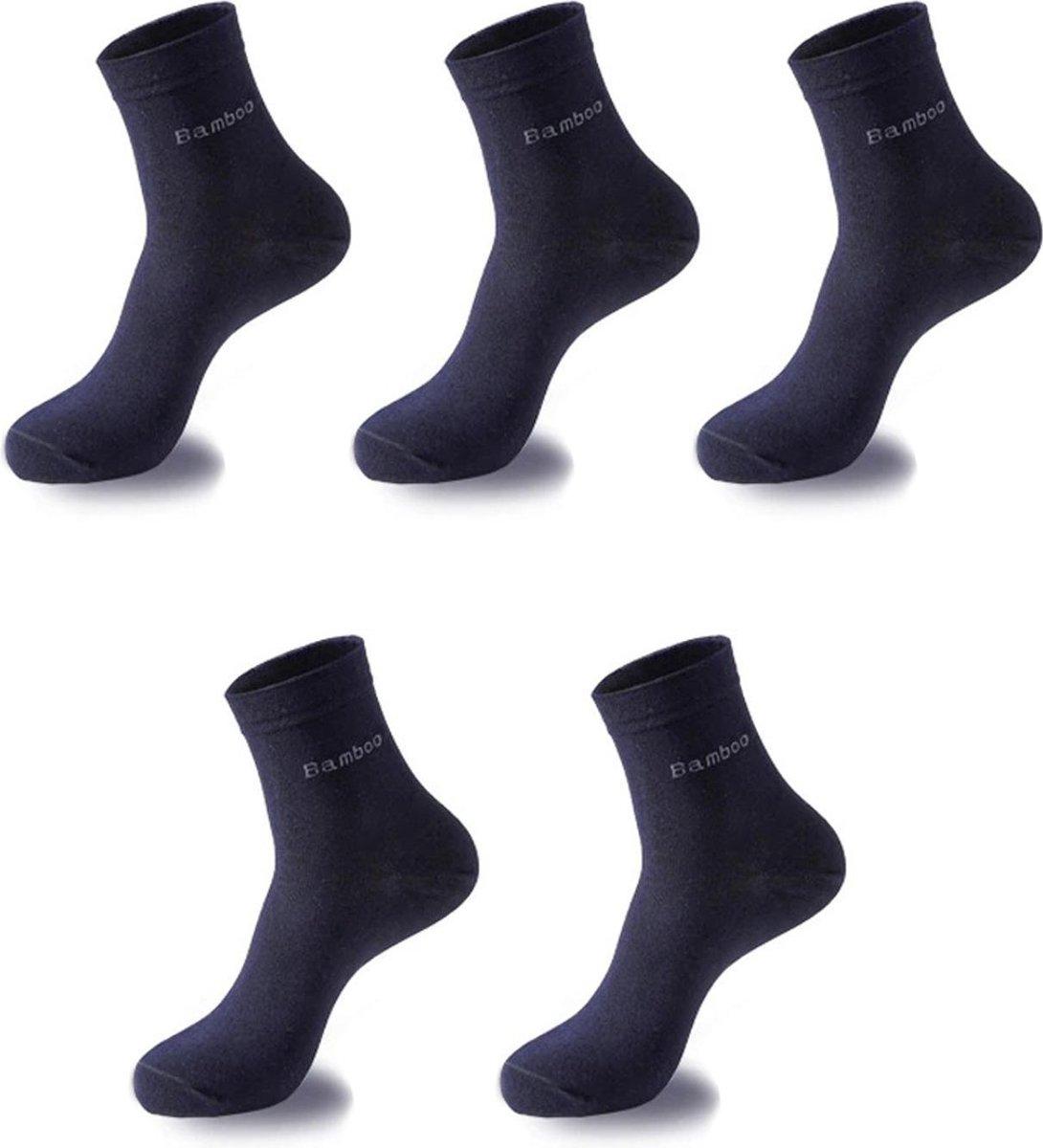 Sorprese Bamboo heren 5 paar sokken - sokken heren - navy blauw - sokken heren 43 46