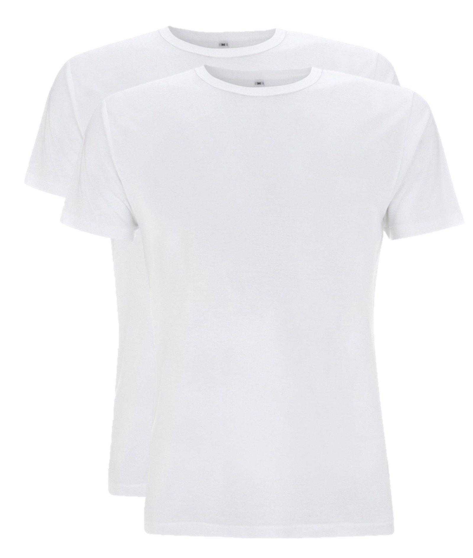 Bamboe t-shirt heren 2-pack Blauw