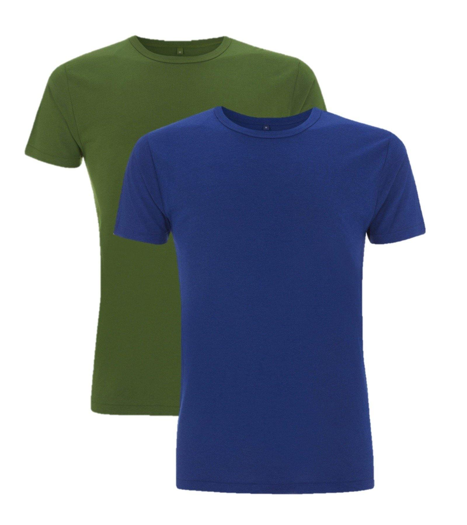 Bamboe t-shirt heren 2-pack mix Wit