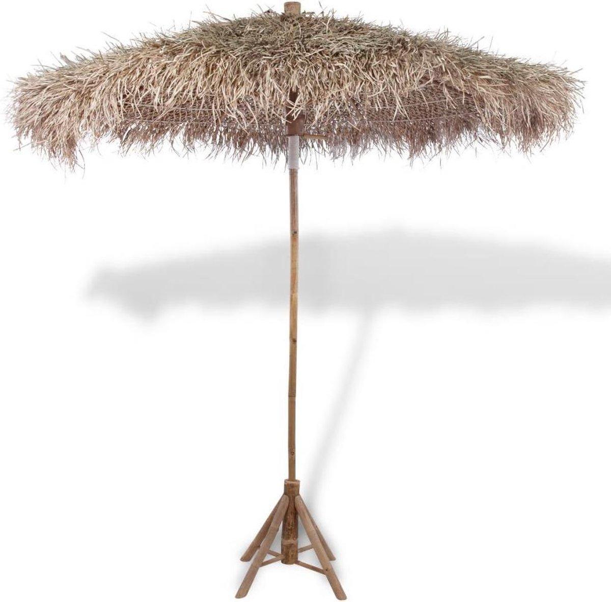 vidaXL Parasol van bamboe met dak van bananenbladeren 210 cm