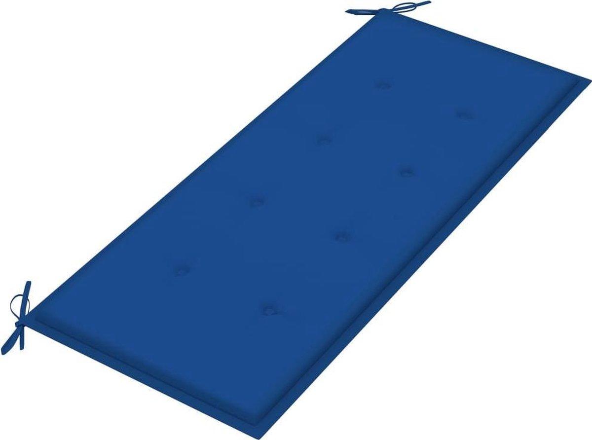 vidaXL Tuinbank inklapbaar met kussen 118 cm bamboe VDXL_3063859