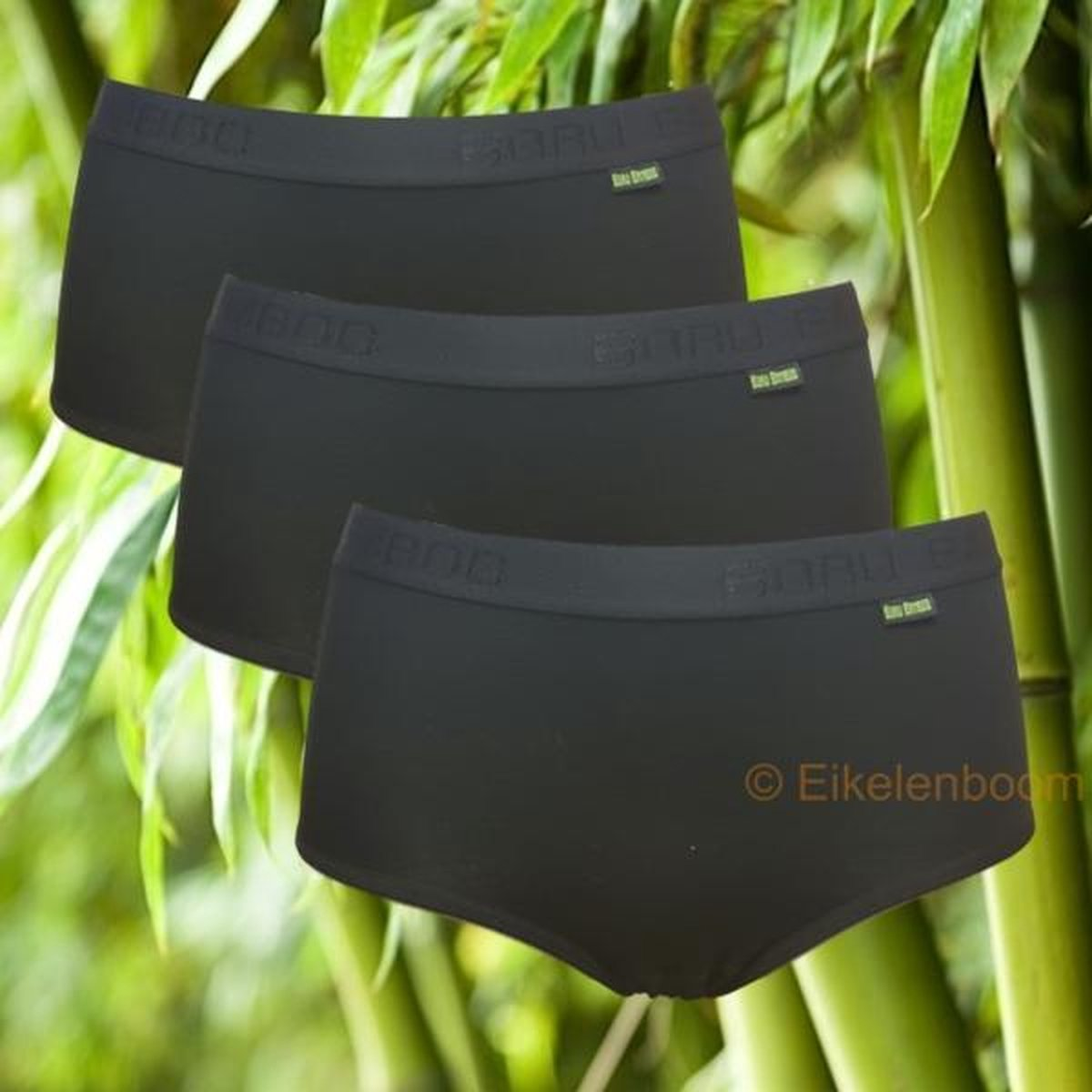 Boru Bamboo | Ondergoed Dames | 3-pack dames midislip | zwart | MAAT M