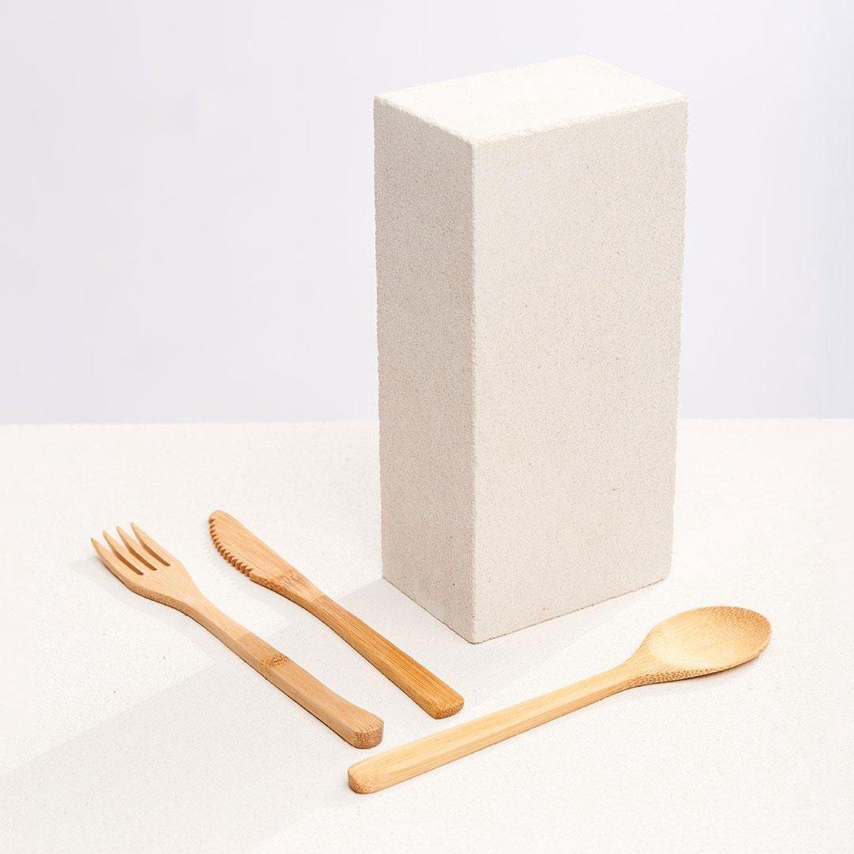 Dzukou Moreh - Bamboe Bestek - Houten Bestek - Herbruikbaar Bestek