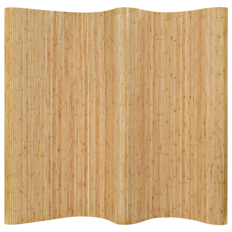 Vidaxl Kamerscherm 250x165 Cm Bamboe Natuurlijk