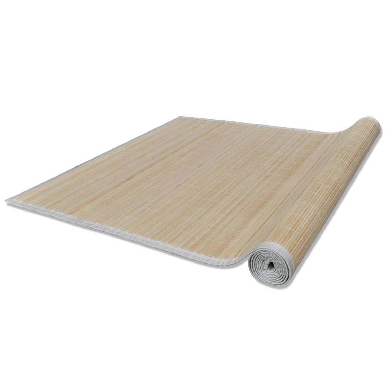 Vidaxl Tapijt 100x160 Cm Bamboe Natuurlijk