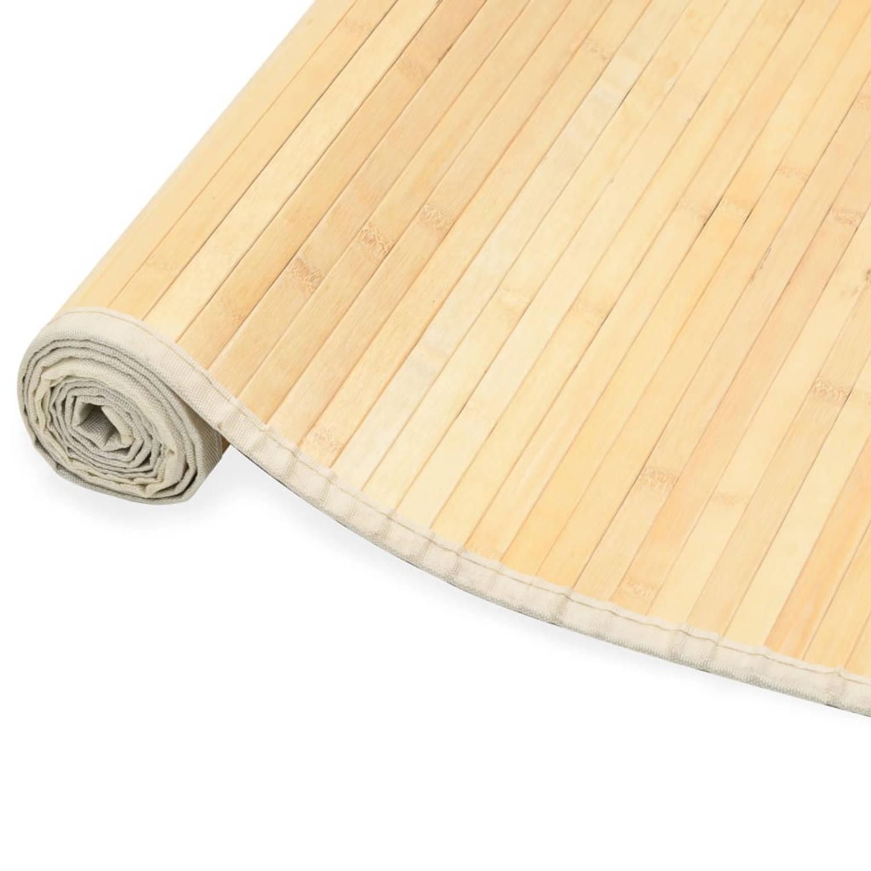Vidaxl Tapijt 150x200 Cm Bamboe Naturel