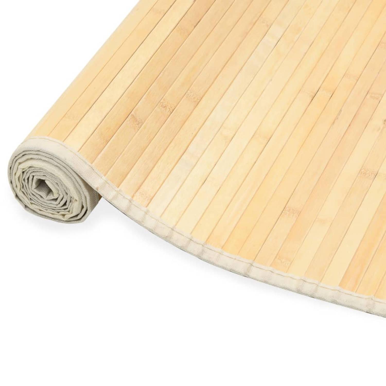 Vidaxl Tapijt 80x200 Cm Bamboe Natuurlijk