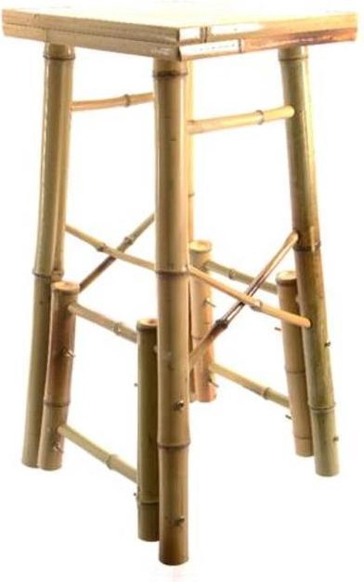 Kruk Bamboe- Naturel Look- Maat 38x34x73cm
